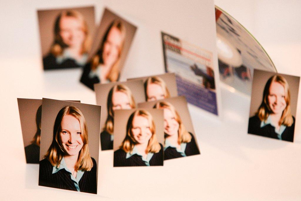 Businessbewerbungsfotos plus Digitalbild